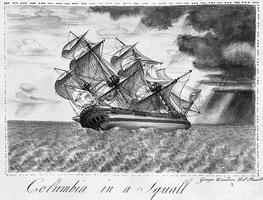 Origine du nom des navettes spatiales Columbia_in_a_Squall