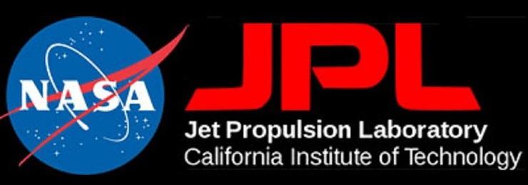 Logo d'origine du JPL sur Explorer-1 JPL-Logo