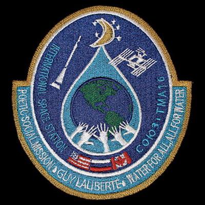Soyouz TMA-16: Les badges privés de Guy LALIBERTE Laliberte%201